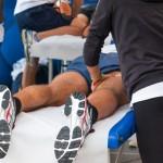 Sports Physiotherapists doing massage