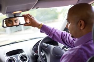 Rear View Mirror Saves Back Pain