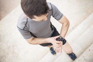 Marathon Runner Setting His Pace