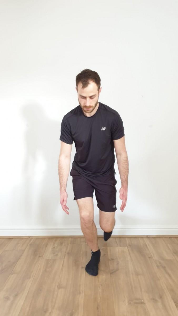 Football Swindon Single Leg Squat Exercise