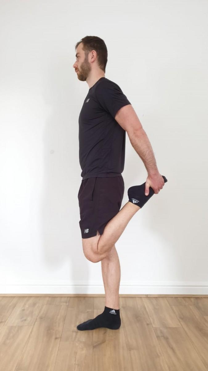 Quad Stretch Shin Splints